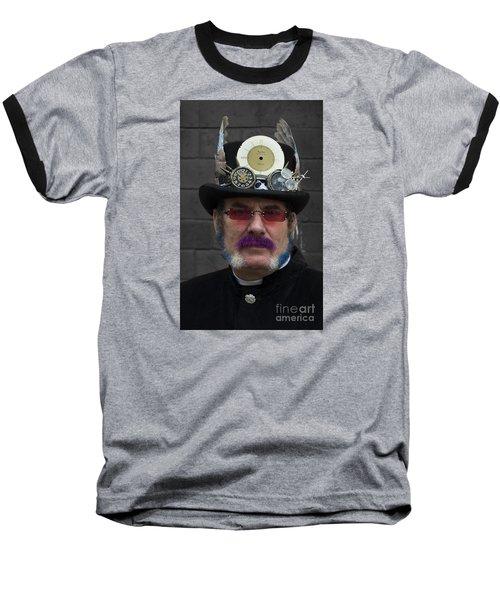 Hello Vicar Baseball T-Shirt by David  Hollingworth