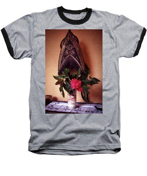 Helmet And Flower Baseball T-Shirt