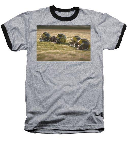 Helmets In Golden Dawn Sunlight Baseball T-Shirt