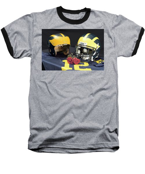 Helmets Of Different Eras With Jersey And Roses Baseball T-Shirt