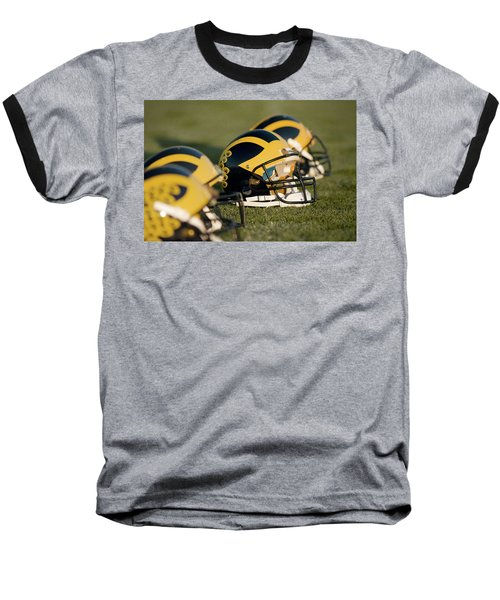 Helmets On The Field Baseball T-Shirt