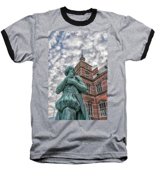 Baseball T-Shirt featuring the photograph Helsingor Train Station Statue by Antony McAulay
