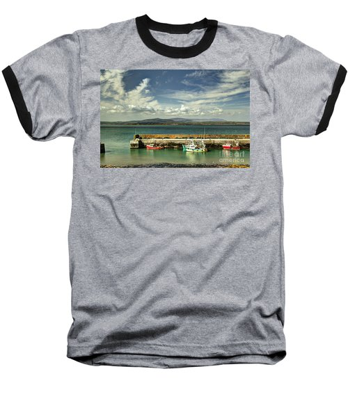Helvick Harbour Baseball T-Shirt