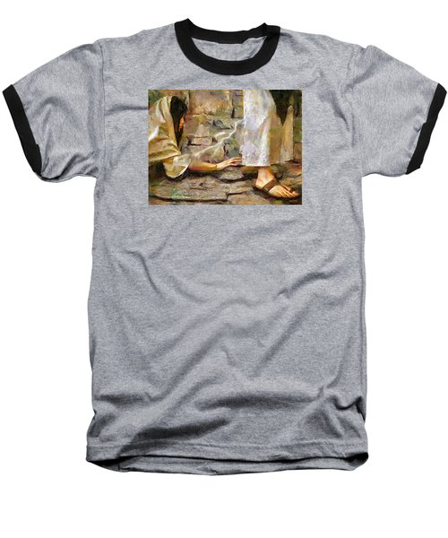 Hem Of His Garment Baseball T-Shirt by Wayne Pascall