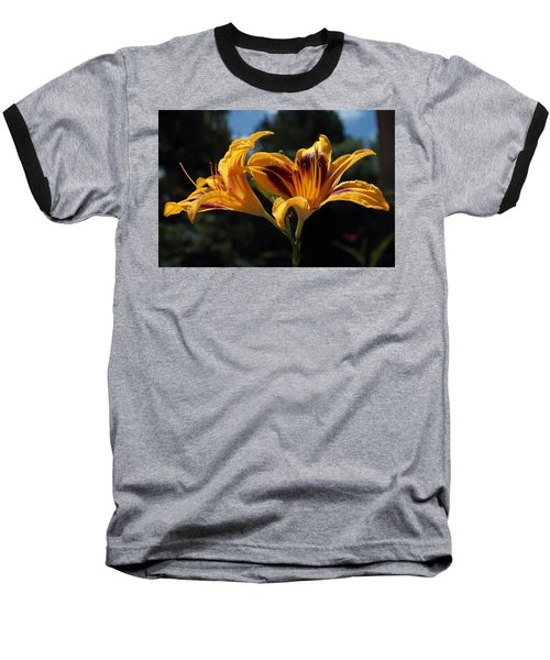 Hemerocallis Baseball T-Shirt