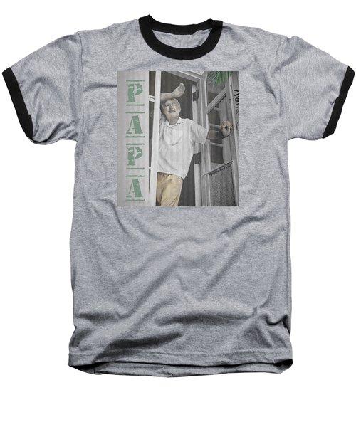 Hemingway In Cuba Baseball T-Shirt