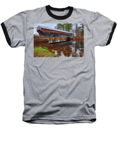 Hemlock Covered Bridge Fryeburg Maine Baseball T-Shirt