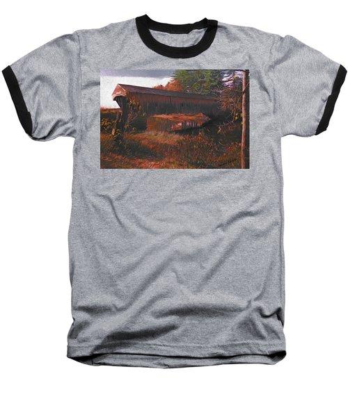 Hemlock Covered Bridge Baseball T-Shirt
