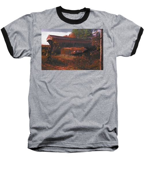 Hemlock Covered Bridge Baseball T-Shirt