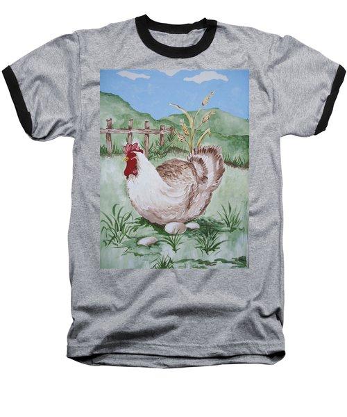 Hen And Eggs Baseball T-Shirt