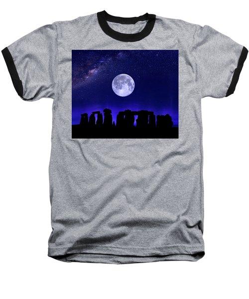 Henge Under The Supermoon Baseball T-Shirt