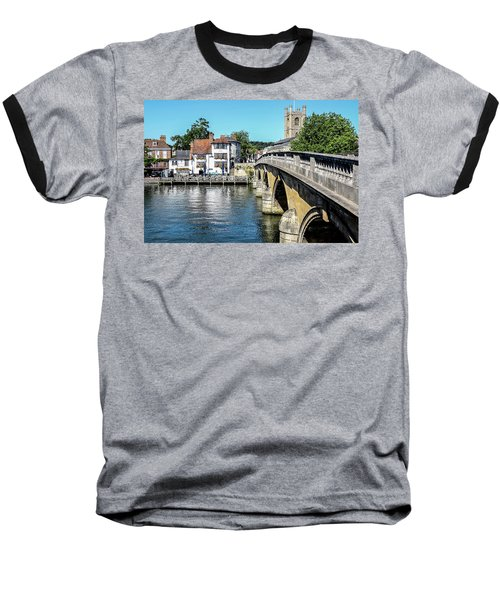 Henley And The Angel On The Bridge Baseball T-Shirt by Ken Brannen