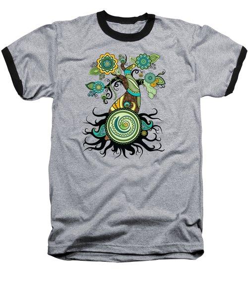 Henna Tree Of Life Baseball T-Shirt by Serena King