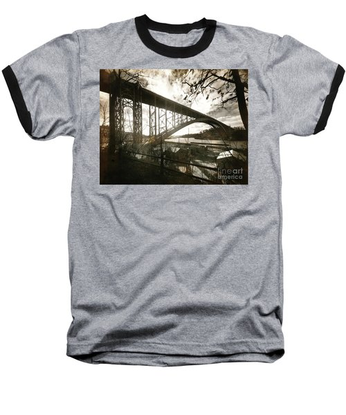 Henry Hudson Bridge, 1936 Baseball T-Shirt by Cole Thompson