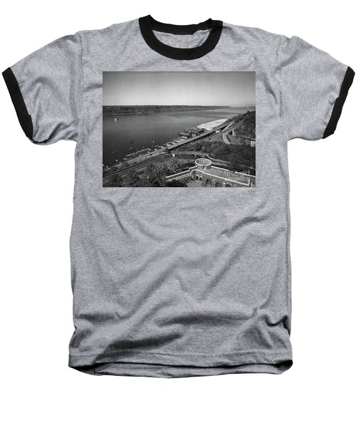Henry Hudson Parkway, 1936 Baseball T-Shirt by Cole Thompson