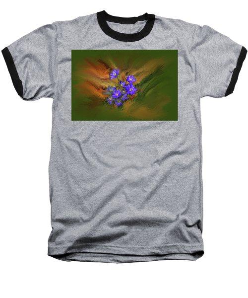 Hepatica Nobilis Painterly #h4 Baseball T-Shirt