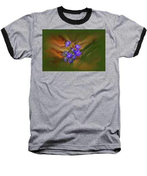 Hepatica Nobilis Painterly #h4 Baseball T-Shirt