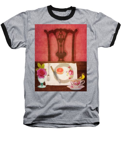 Baseball T-Shirt featuring the digital art Her Place At The Table by Lisa Noneman