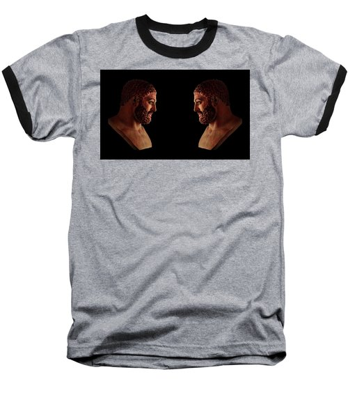 Baseball T-Shirt featuring the mixed media Hercules - Brunettes by Shawn Dall