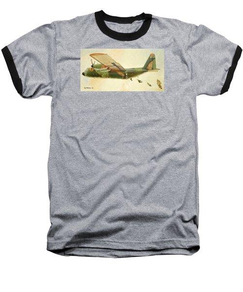 Hercules Paratroop Drop Baseball T-Shirt