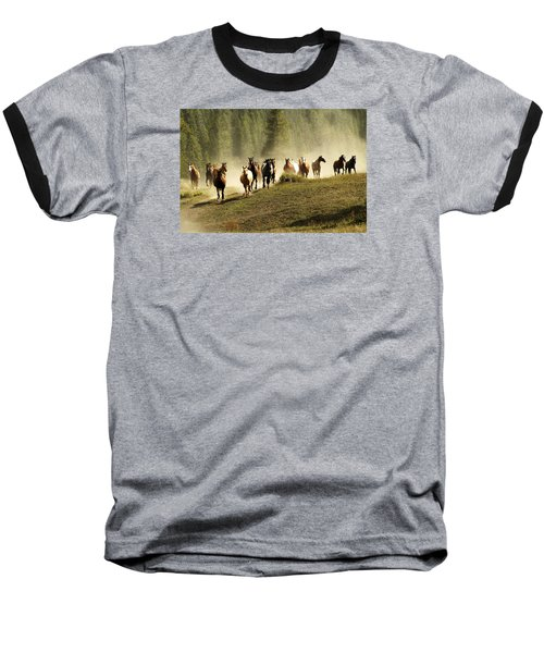 Herd Of Wild Horses Baseball T-Shirt