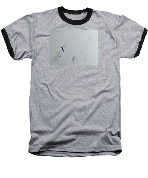 Baseball T-Shirt featuring the drawing Here Boy by Alohi Fujimoto