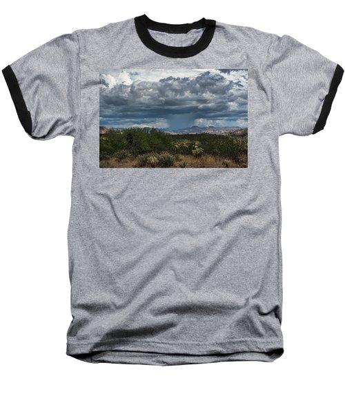 Baseball T-Shirt featuring the photograph Here Comes The Rain Again by Saija Lehtonen