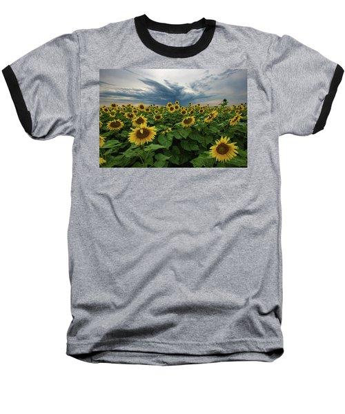 Here Comes The Sun Baseball T-Shirt by Aaron J Groen