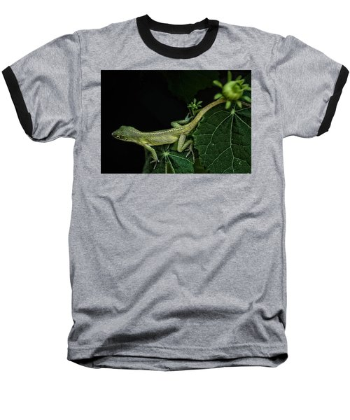 Baseball T-Shirt featuring the mixed media Here Lizard Lizard by Kim Henderson