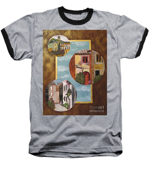 Baseball T-Shirt featuring the painting Heritage by Judy Via-Wolff