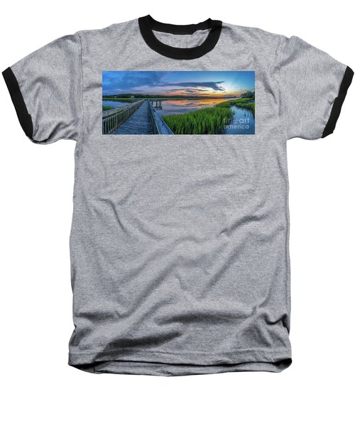 Heritage Shores Nature Preserve Sunrise Baseball T-Shirt