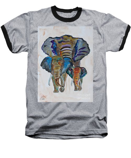 Heritage Walk Baseball T-Shirt by Ella Kaye Dickey
