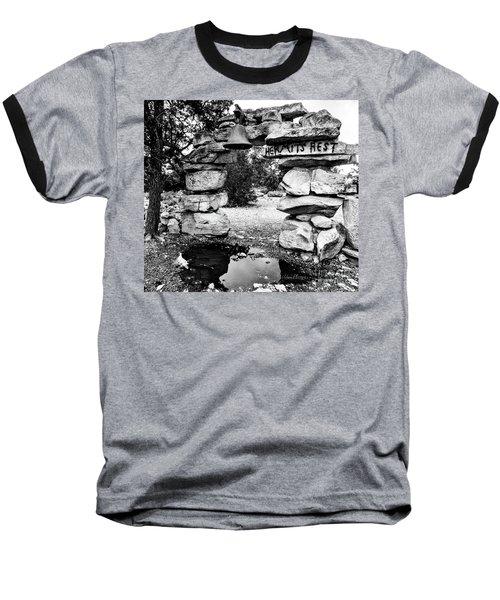 Hermit's Rest, Black And White Baseball T-Shirt