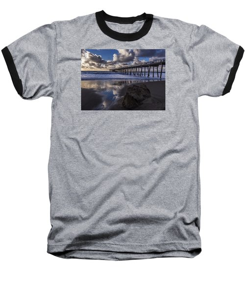Hermosa Beach Pier Baseball T-Shirt