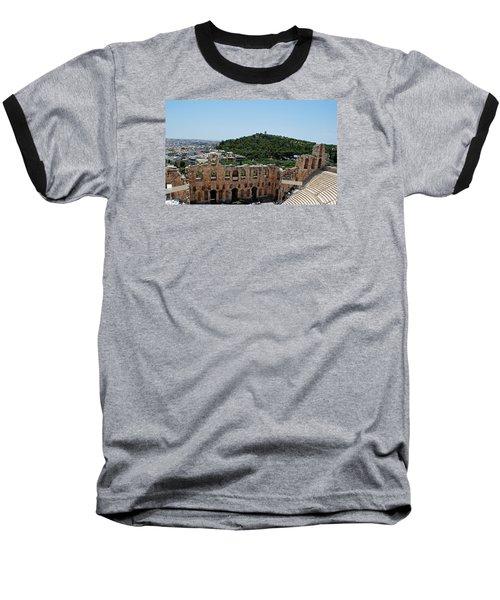 Herodeons Amphitheatre Baseball T-Shirt by Robert Moss
