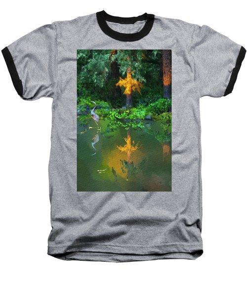 Heron Art Baseball T-Shirt by Dale Stillman