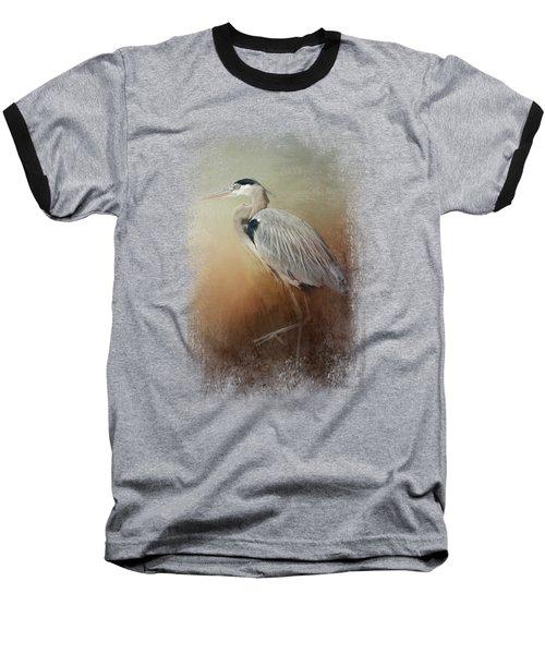 Heron At The Inlet Baseball T-Shirt