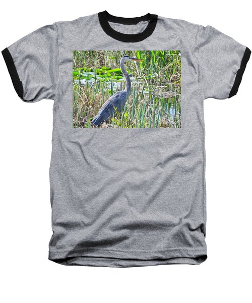 Heron By The Riverside Baseball T-Shirt
