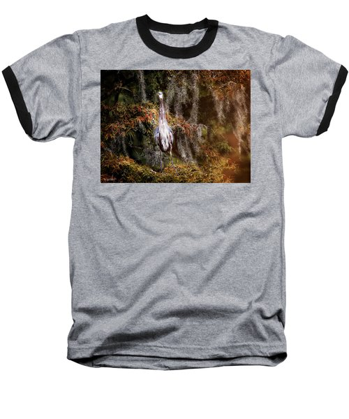 Baseball T-Shirt featuring the photograph Heron Camouflage by Phil Mancuso