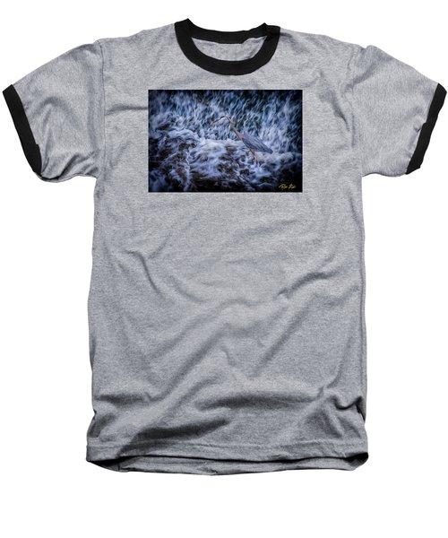Baseball T-Shirt featuring the photograph Heron Falls by Rikk Flohr