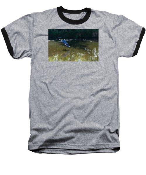 Heron Flight Baseball T-Shirt