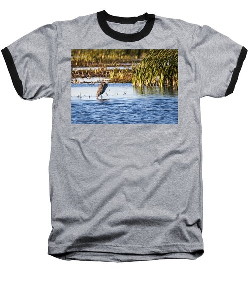 Heron - Horicon Marsh - Wisconsin Baseball T-Shirt by Steven Ralser