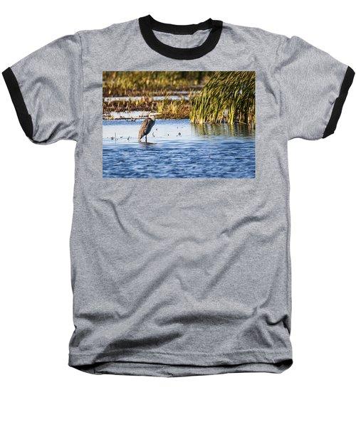 Heron - Horicon Marsh - Wisconsin Baseball T-Shirt