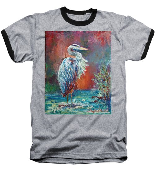 Heron In Color Baseball T-Shirt