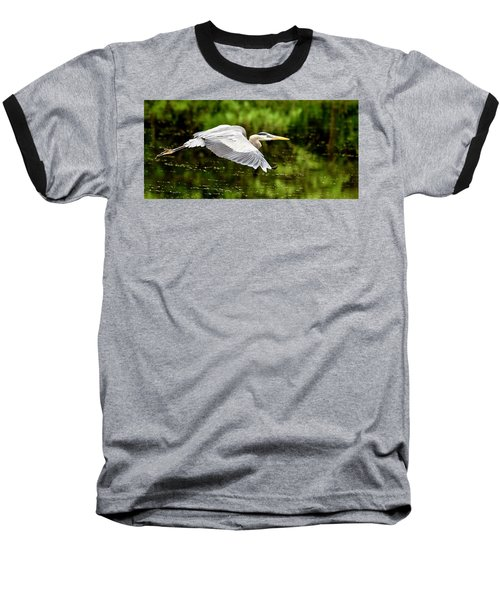 Heron In Flight Baseball T-Shirt