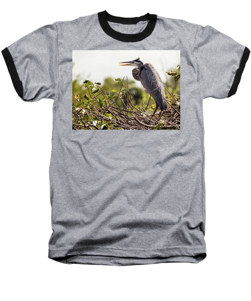 Heron In Nest Baseball T-Shirt