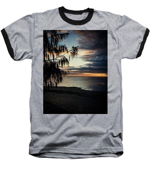 Heron Island Sunset  Baseball T-Shirt