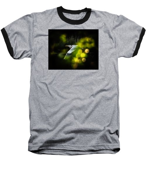 Heron Launch Baseball T-Shirt by Jim Proctor
