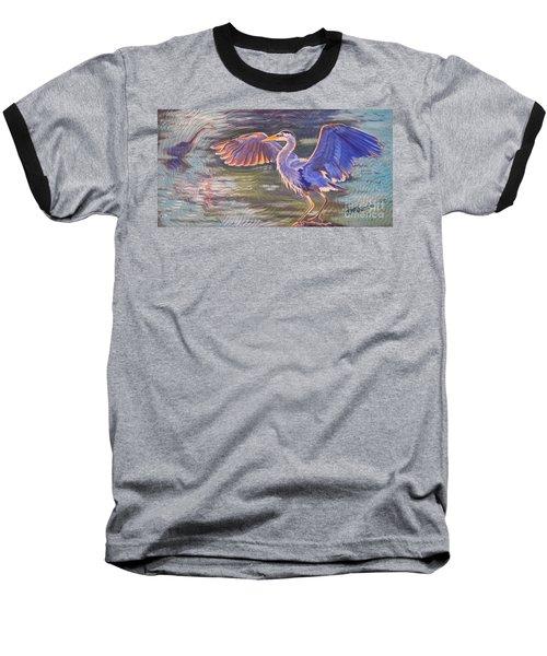 Heron Majesty Baseball T-Shirt