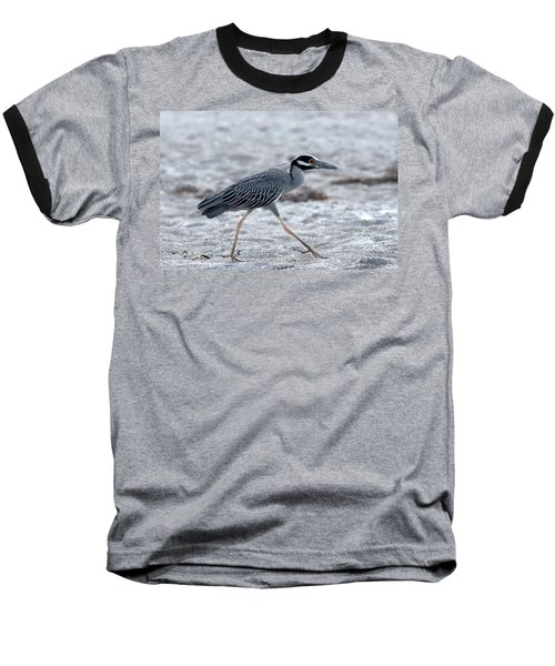 Yellow-crowned Night Heron On A Mission Baseball T-Shirt